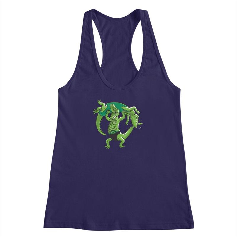 Alligator Wrestling Women's Racerback Tank by Trulyfunky Shop @ Threadless!