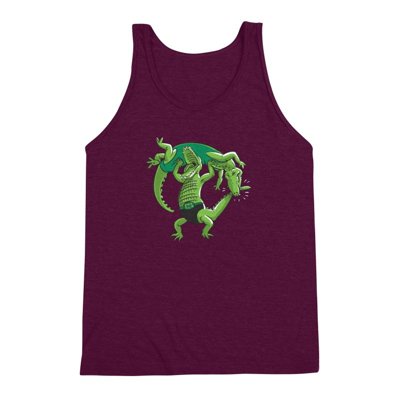 Alligator Wrestling Men's Triblend Tank by Trulyfunky Shop @ Threadless!