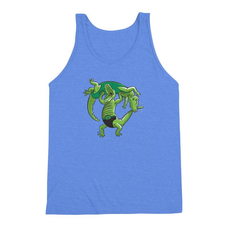 Alligator Wrestling Men's Triblend Tank by Trulyfunky Shop @ Threadless!