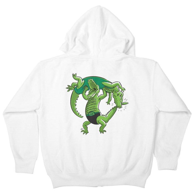 Alligator Wrestling Kids Zip-Up Hoody by Trulyfunky Shop @ Threadless!