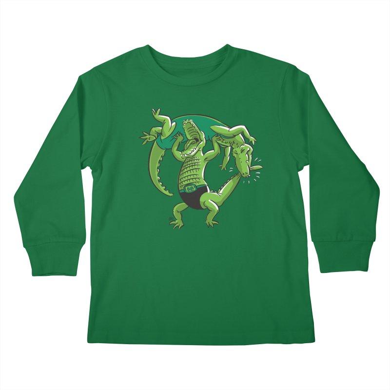 Alligator Wrestling Kids Longsleeve T-Shirt by Trulyfunky Shop @ Threadless!