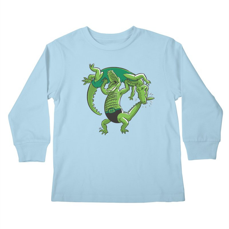 Alligator Wrestling Kids Longsleeve T-Shirt by Trulyfunky Shop @ Threadless!