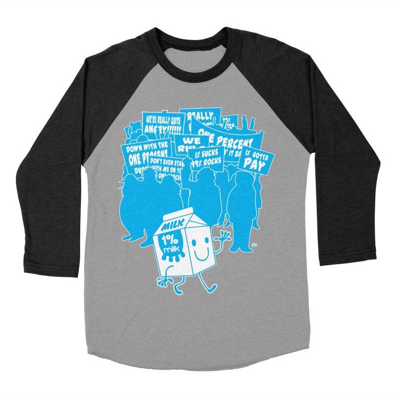 Bad News For Milk Men's Baseball Triblend T-Shirt by Trulyfunky Shop @ Threadless!