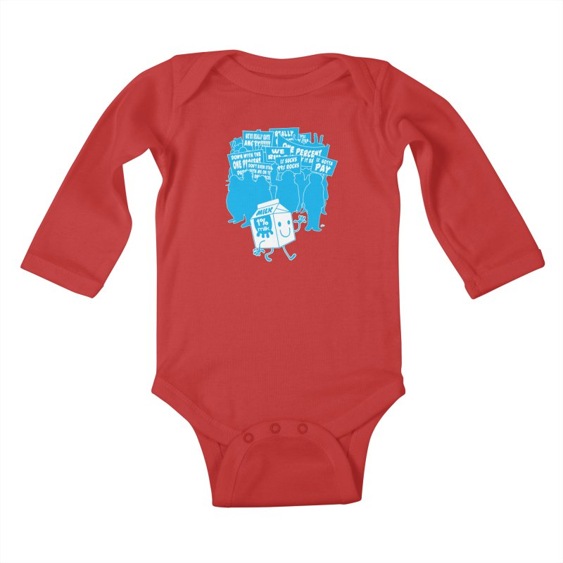 Bad News For Milk Kids Baby Longsleeve Bodysuit by Trulyfunky Shop @ Threadless!