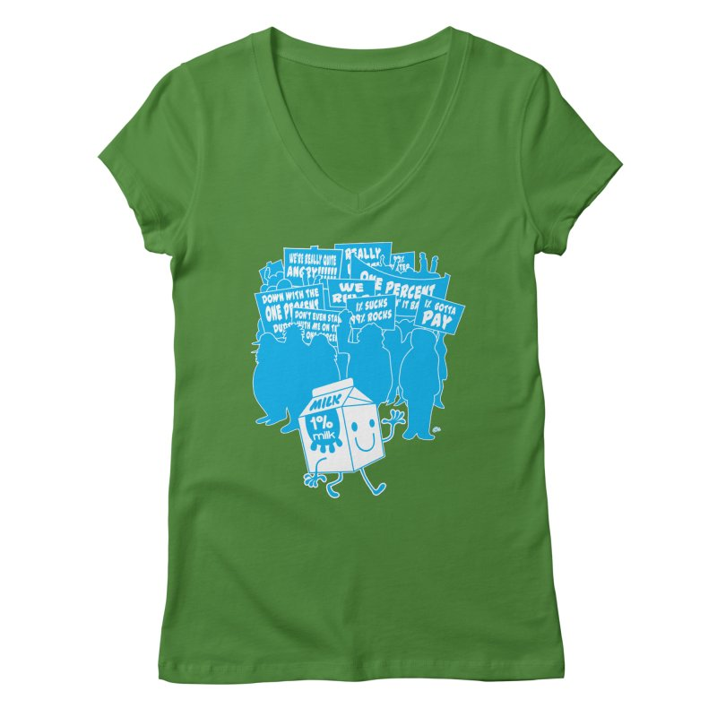 Bad News For Milk Women's V-Neck by Trulyfunky Shop @ Threadless!