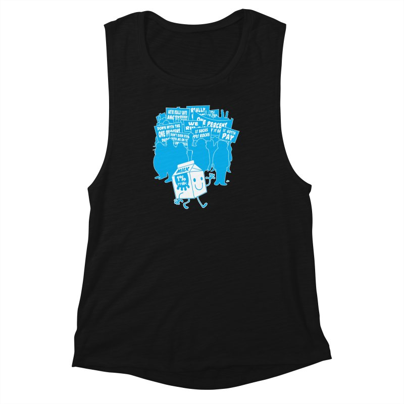 Bad News For Milk Women's Muscle Tank by Trulyfunky Shop @ Threadless!