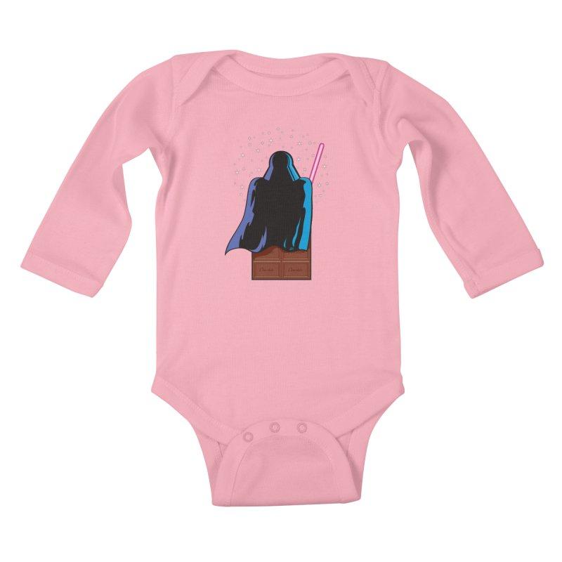 Dark Chocolate Kids Baby Longsleeve Bodysuit by Trulyfunky Shop @ Threadless!