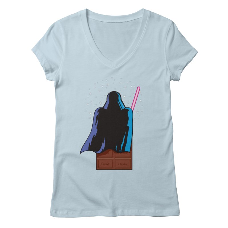 Dark Chocolate Women's V-Neck by Trulyfunky Shop @ Threadless!