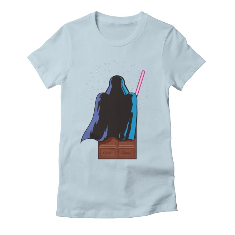 Dark Chocolate Women's Fitted T-Shirt by Trulyfunky Shop @ Threadless!