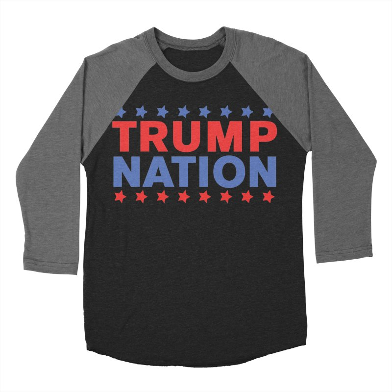 Trump Nation Women's Baseball Triblend Longsleeve T-Shirt by Trump Nation