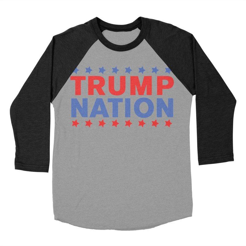 Trump Nation Men's Baseball Triblend T-Shirt by Trump Nation