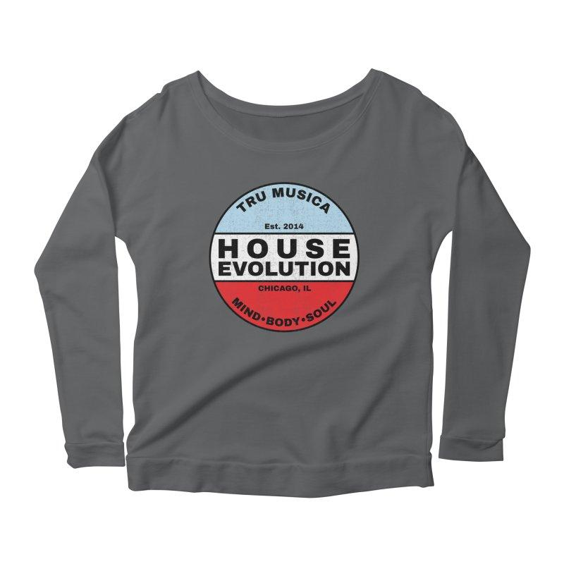 House Evolution Chicago Colors Women's Longsleeve T-Shirt by Tru Musica Merchandise