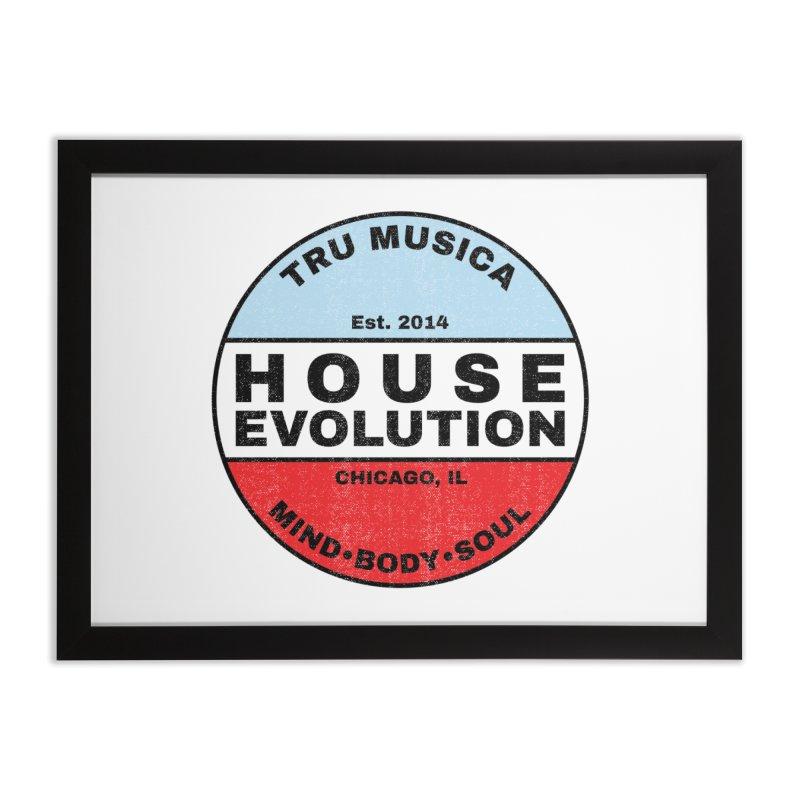 House Evolution Chicago Colors Home Framed Fine Art Print by Tru Musica Merchandise