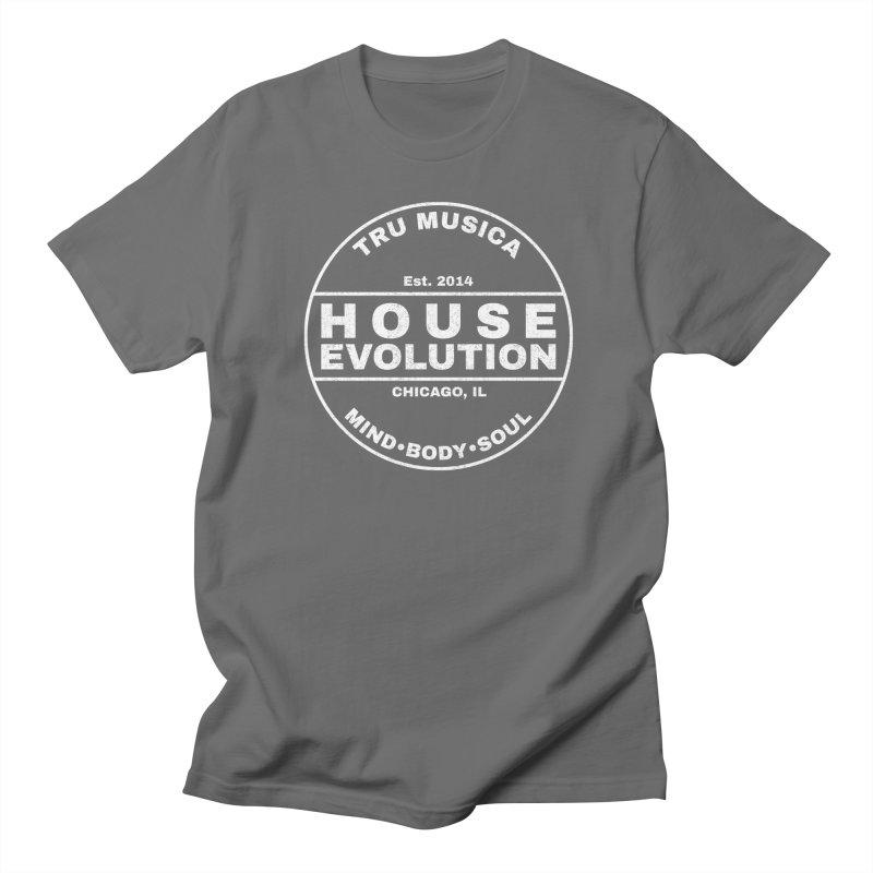 House Evolution White Men's T-Shirt by Tru Musica Merchandise