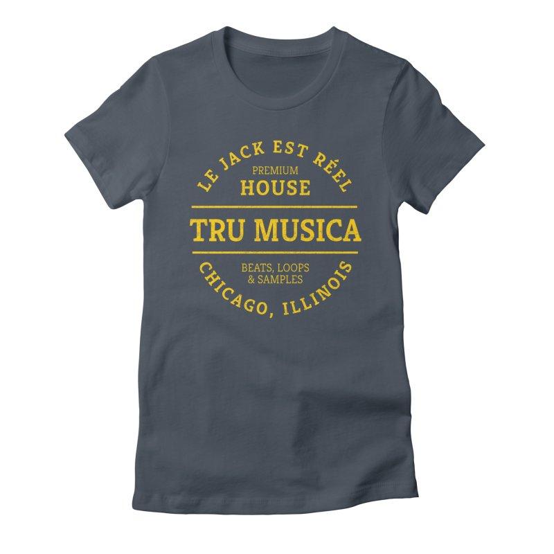 Tru Musica Premium House Yellow Women's T-Shirt by Tru Musica Merchandise