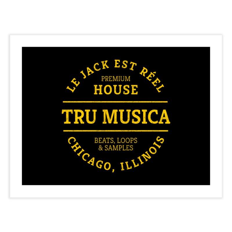 Tru Musica Premium House Yellow Home Fine Art Print by Tru Musica Merchandise
