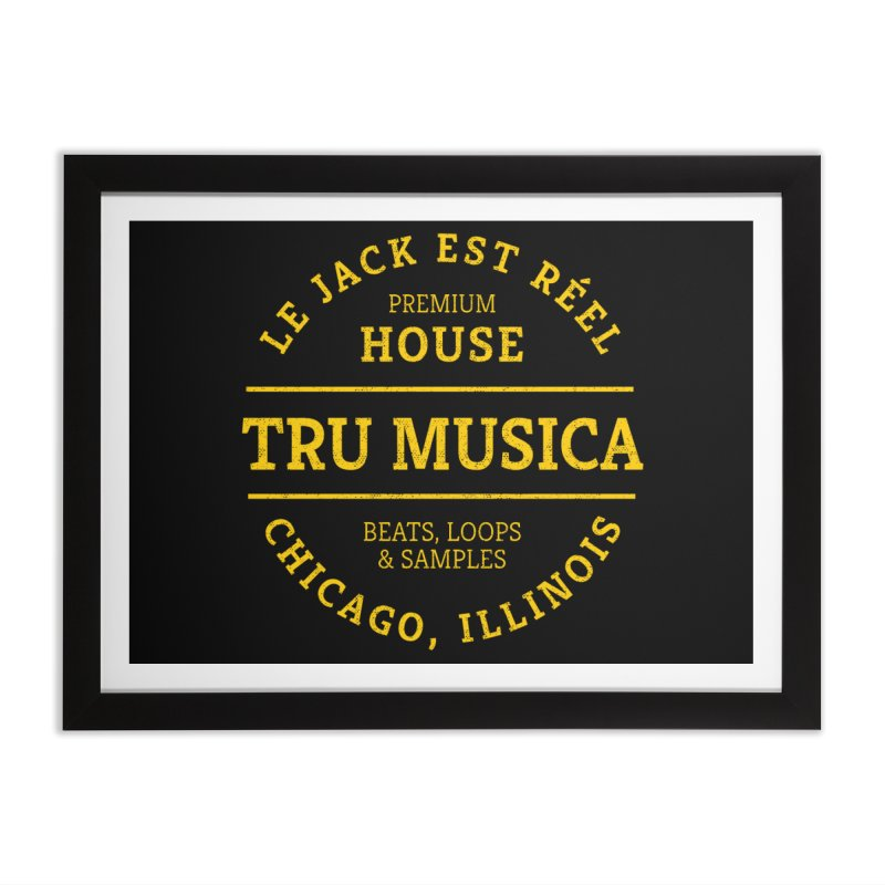Tru Musica Premium House Yellow Home Framed Fine Art Print by Tru Musica Merchandise