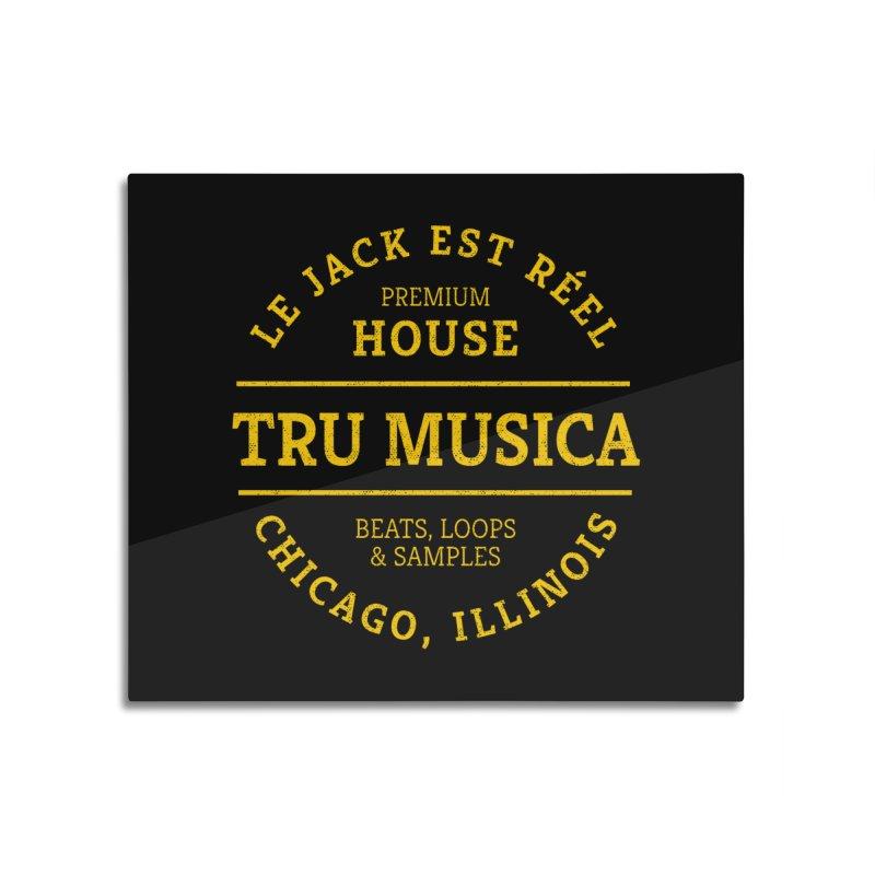 Tru Musica Premium House Yellow Home Mounted Aluminum Print by Tru Musica Merchandise