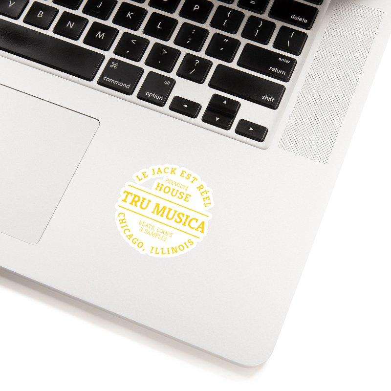 Tru Musica Premium House Yellow Accessories Sticker by Tru Musica Merchandise