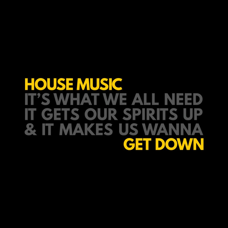 House Music Lyric Horizontal Accessories Mug by Tru Musica Merchandise