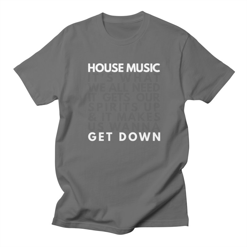 House Music Lyric Square Men's T-Shirt by Tru Musica Merchandise