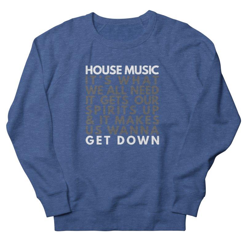 House Music Lyric Square Men's Sweatshirt by Tru Musica Merchandise