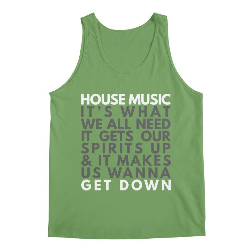 House Music Lyric Square Men's Tank by Tru Musica Merchandise