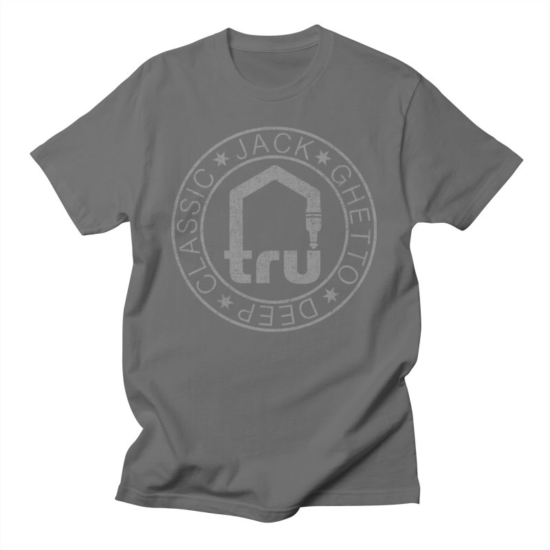 Tru Patch Grey Distressed Men's T-Shirt by Tru Musica Merchandise