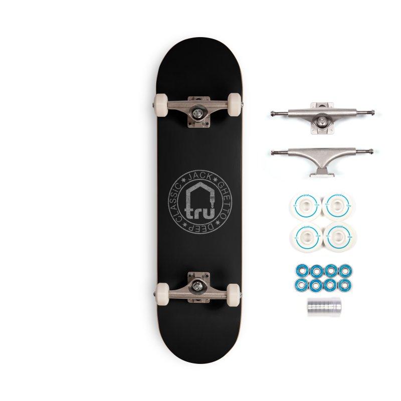Tru Patch Grey Distressed Accessories Skateboard by Tru Musica Merchandise