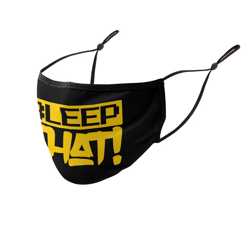 BLEEPTHAT! Face Mask Yellow Accessories Face Mask by Tru Musica Merchandise