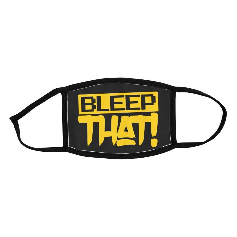 BLEEPTHAT! Face Mask Yellow Accessories Face Mask by Tru Musica Merchandise