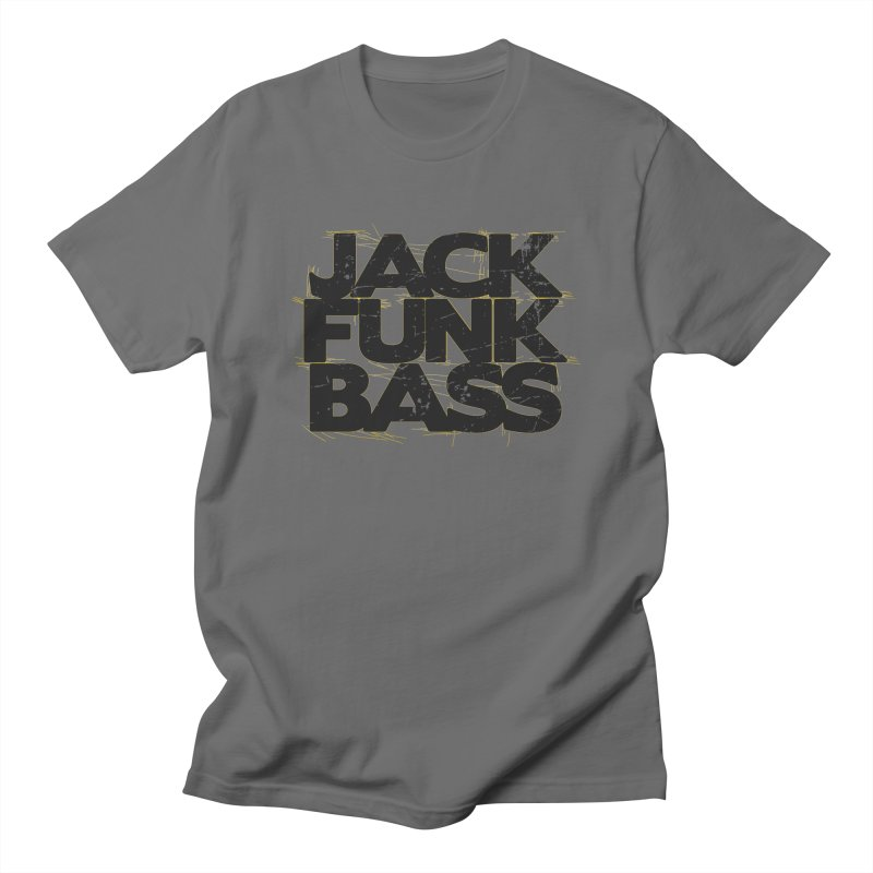 Jack Funk Bass Black & Yellow Men's T-Shirt by Tru Musica Merchandise