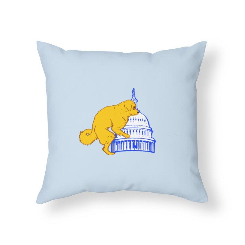 hump da house Home Throw Pillow by truthpup's Artist Shop