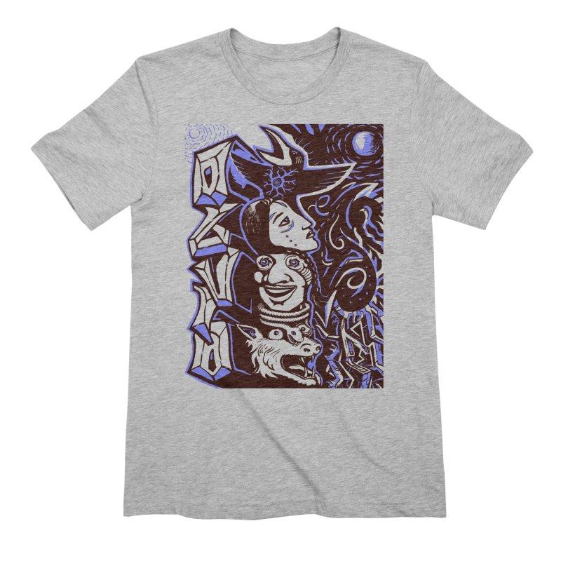 totem blue Men's Extra Soft T-Shirt by truthpup's Artist Shop