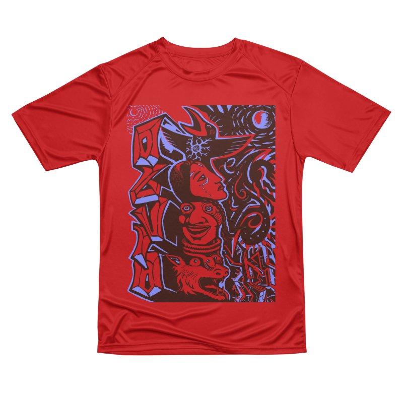 totem blue Women's Performance Unisex T-Shirt by truthpup's Artist Shop
