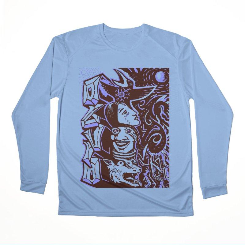 totem blue Men's Performance Longsleeve T-Shirt by truthpup's Artist Shop