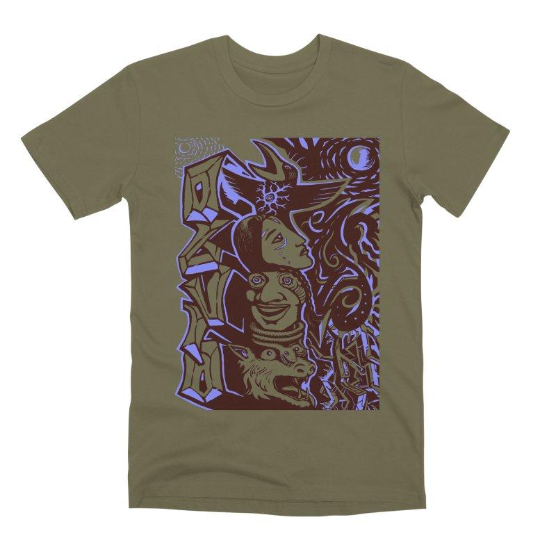 totem blue Men's Premium T-Shirt by truthpup's Artist Shop
