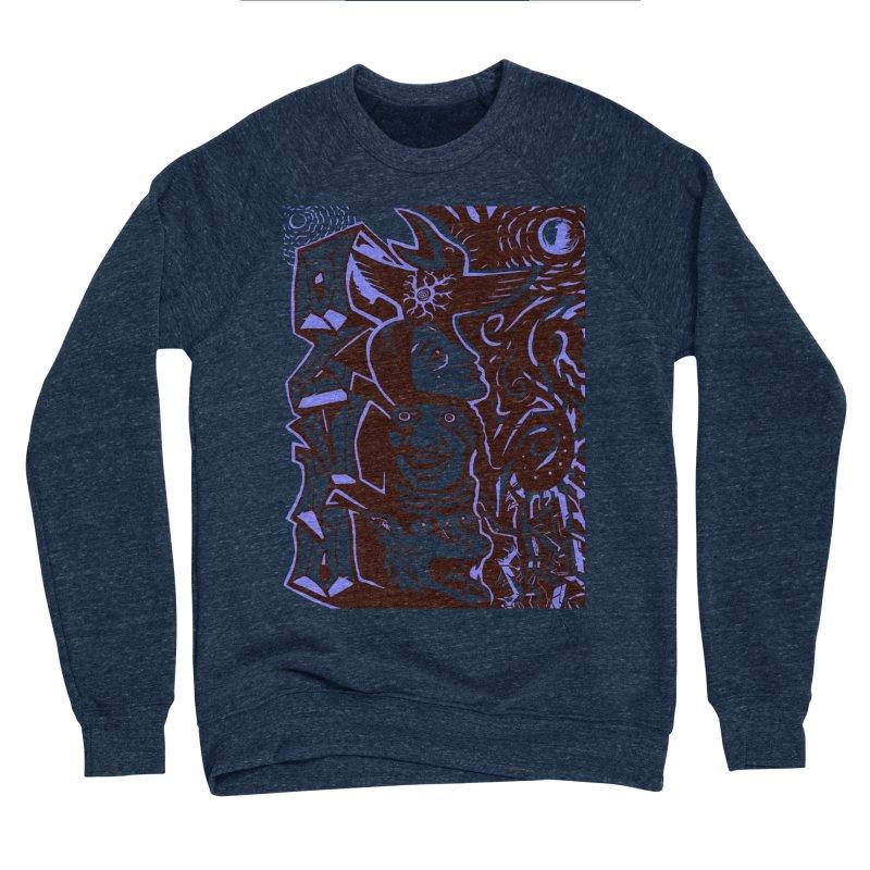 totem blue Women's Sponge Fleece Sweatshirt by truthpup's Artist Shop
