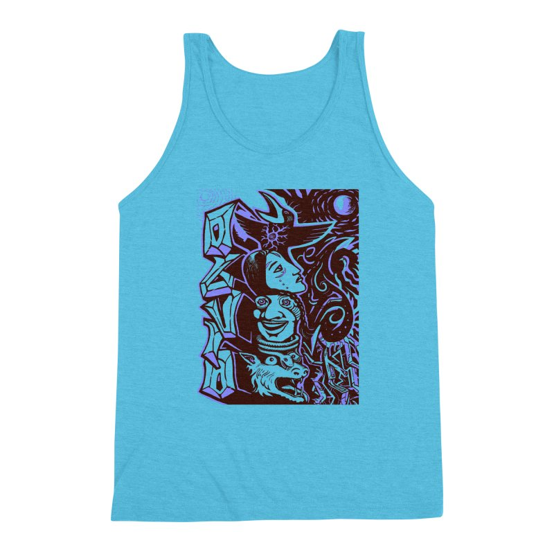 totem blue Men's Triblend Tank by truthpup's Artist Shop