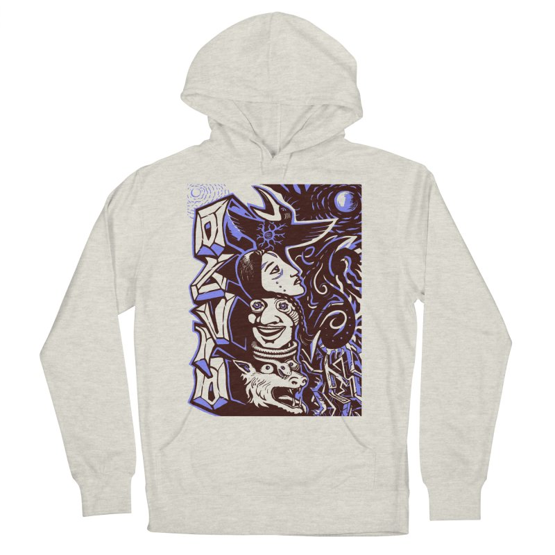 totem blue Women's French Terry Pullover Hoody by truthpup's Artist Shop