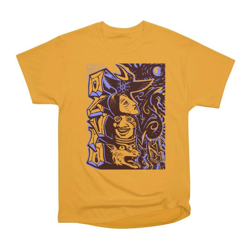 totem blue Men's Heavyweight T-Shirt by truthpup's Artist Shop