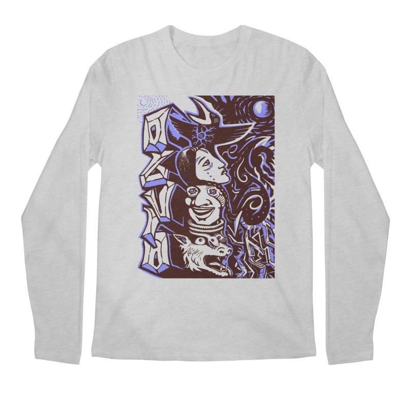 totem blue Men's Regular Longsleeve T-Shirt by truthpup's Artist Shop