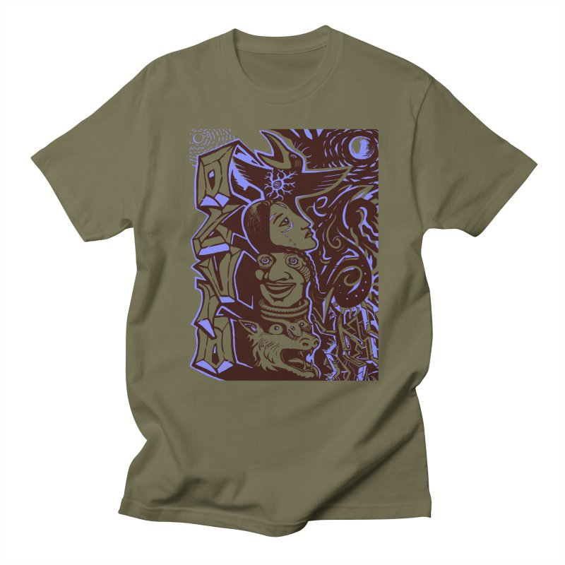totem blue Men's Regular T-Shirt by truthpup's Artist Shop