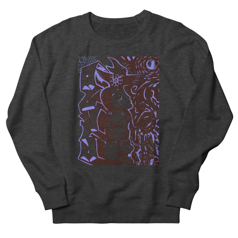 totem blue Men's French Terry Sweatshirt by truthpup's Artist Shop