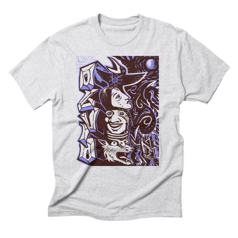 totem blue Men's Triblend T-Shirt by truthpup's Artist Shop