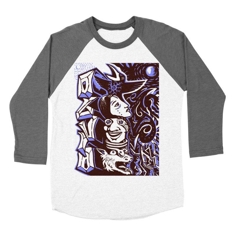 totem blue Men's Baseball Triblend Longsleeve T-Shirt by truthpup's Artist Shop