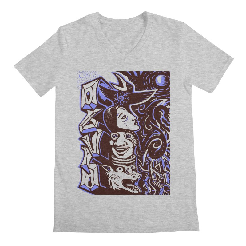 totem blue Men's Regular V-Neck by truthpup's Artist Shop