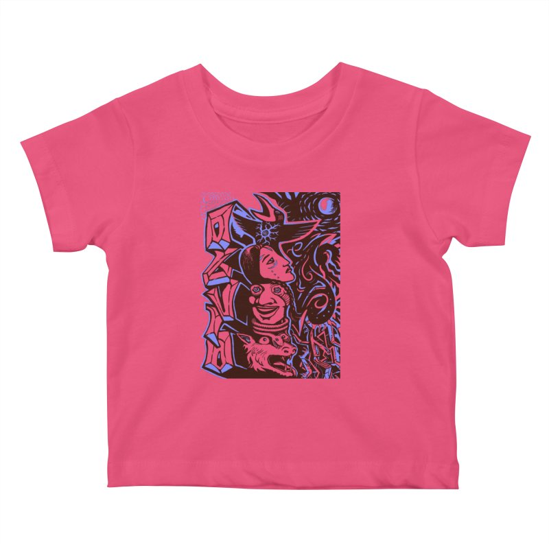 totem blue Kids Baby T-Shirt by truthpup's Artist Shop