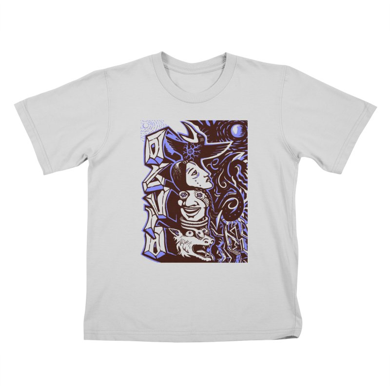 totem blue Kids T-Shirt by truthpup's Artist Shop