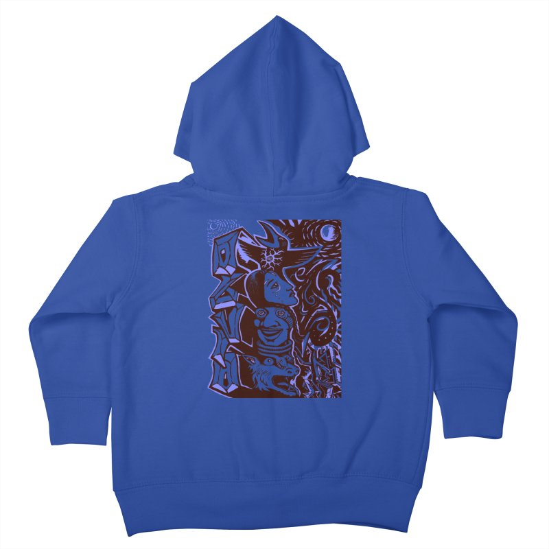 totem blue Kids Toddler Zip-Up Hoody by truthpup's Artist Shop